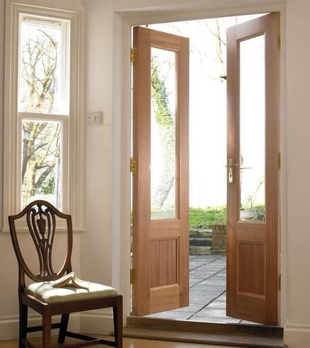 Glazed Hardwood French Doors | Double & French Doors | Doors & Joinery | Howdens Joinery  like this but a painted version