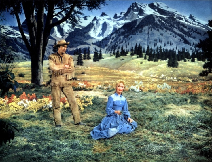 Howard Keel and Jane Powell in Seven Brides for Seven Brothers.