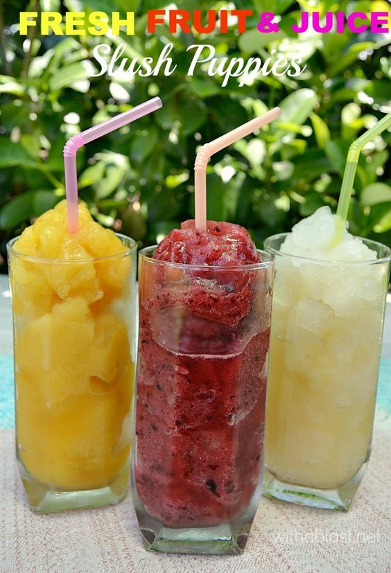 How to make your own (two ways) Fresh Fruit and Juice Slush Puppies at ...