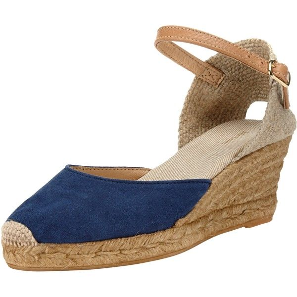 Navy blue sandals low heel