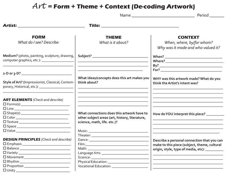 23 best Art Teacher - Art Interpretation images on Pinterest Art - sample course evaluation forms