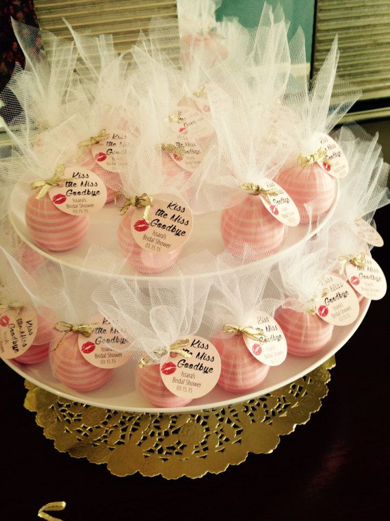 Kiss the Miss Goodbye Favor Tags  Bridal by RosiesDesignShop