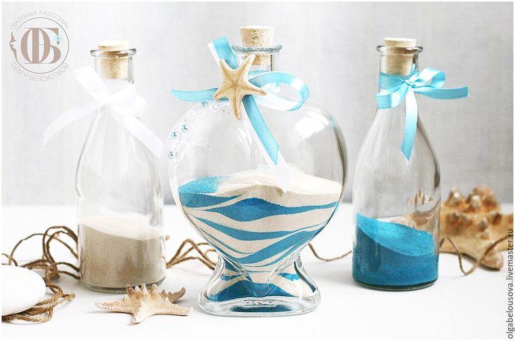 Купить Морской стиль; бело-голубые аксессуары для свадьбы в морском стиле…