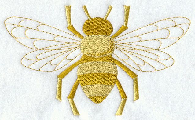 NAPOLEONIC BEE SET OF 2 BATH HAND TOWEL EMBROIDERED BY LAURA