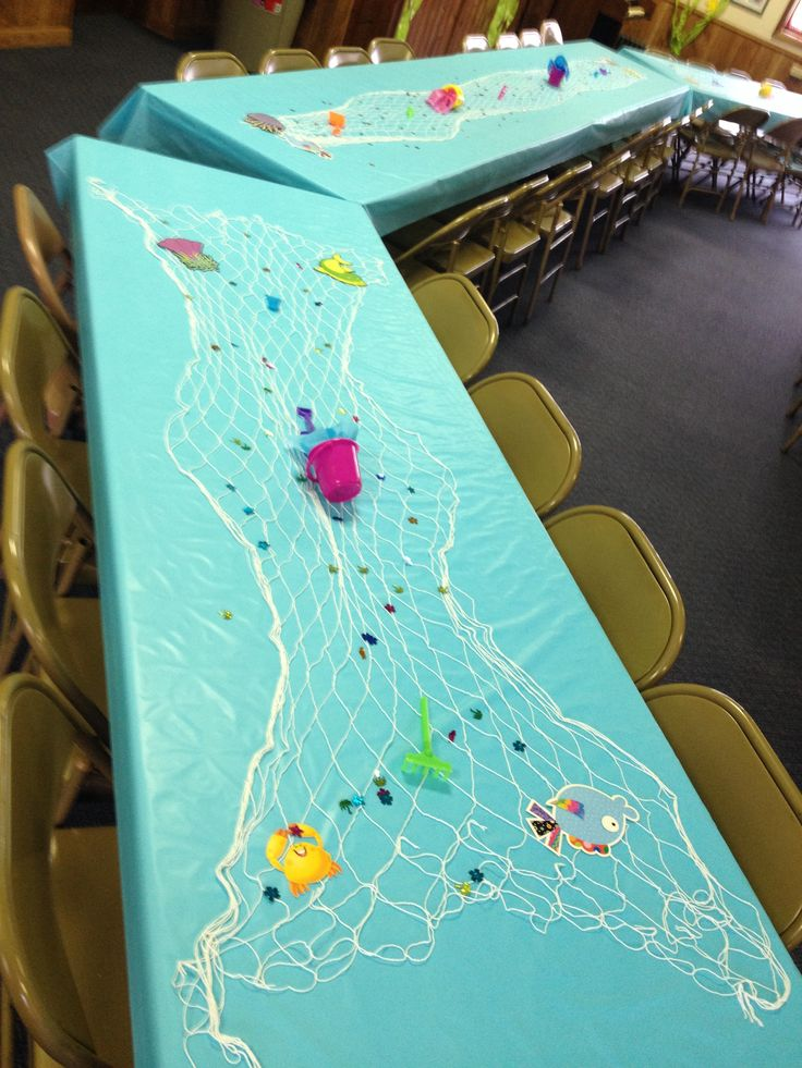 Under the sea table decoration baby shower for the for Decoration 6