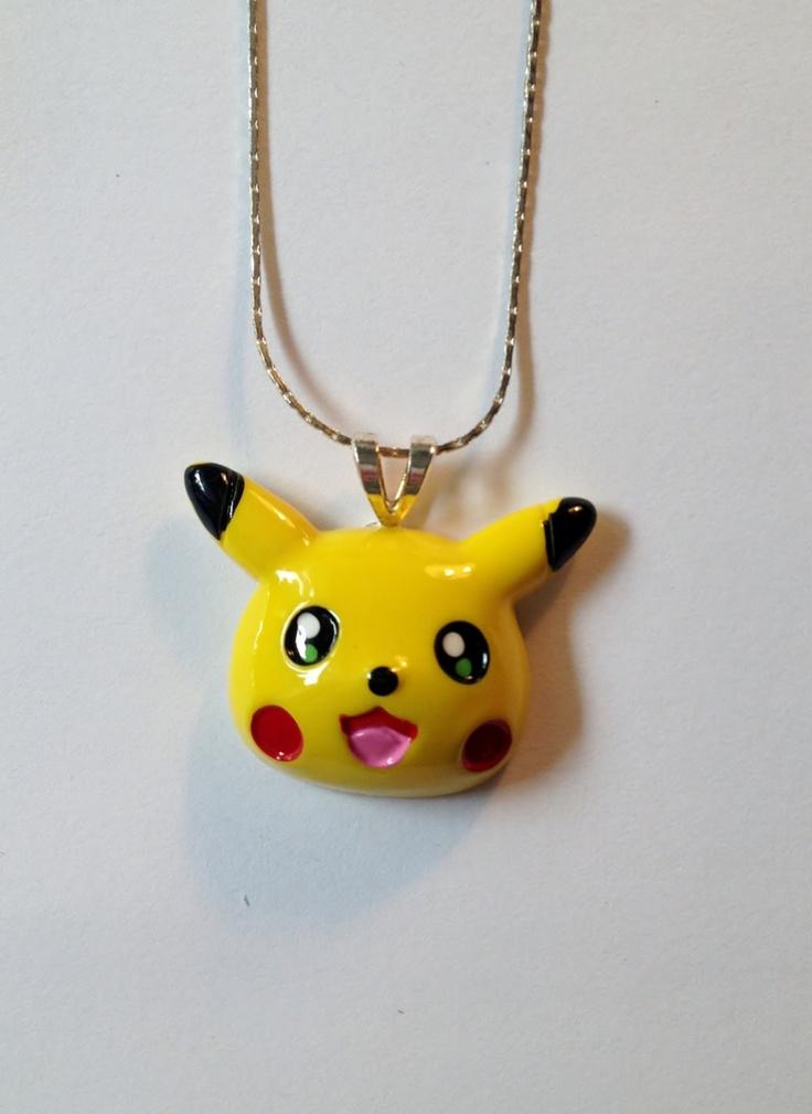 Pokemon Pikachu Necklace. $5.50, via Etsy.