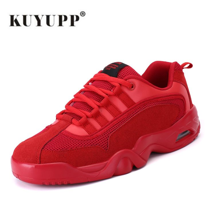 KUYUPP 2017 Spring Fabric running shoes for men breathable men shoes sport low top black red shoes zapatillas running hombre B52