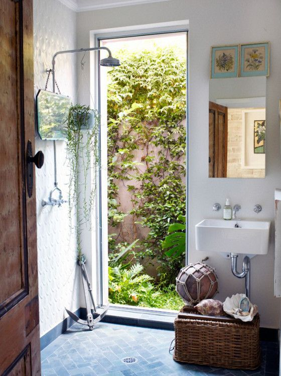 Absolutely love this bathroom!  How great it would be to start your day with a shower here.