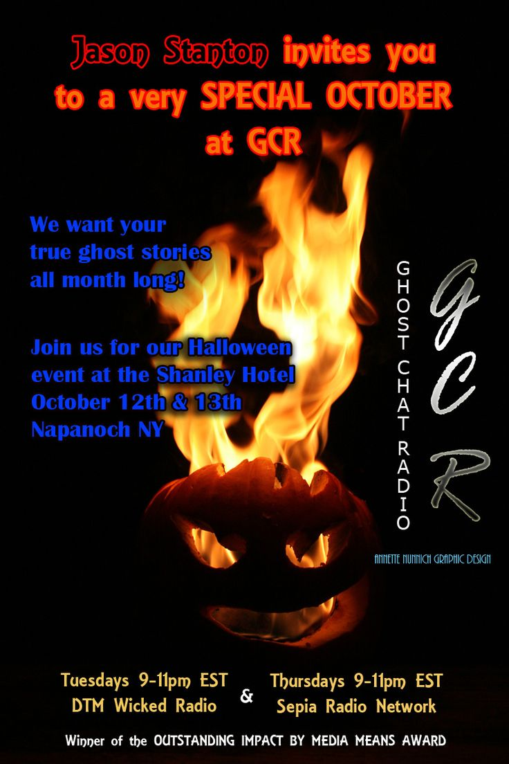 STARTING NOW Ghost Chat Radio with Jason Stanton http://www.sepianc.com/radio #paranormal #ghosts #halloween