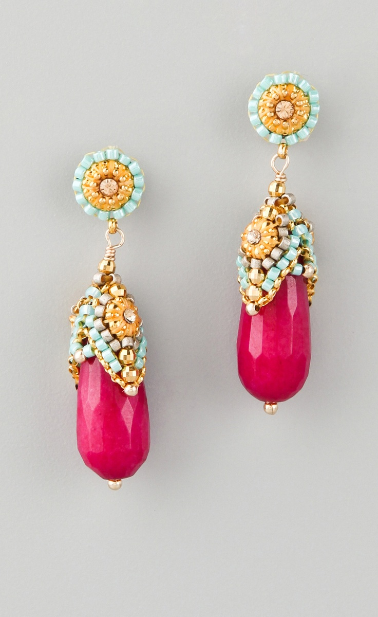 Wear these Miguel Ases jade earrings with Miyuki beads and ...