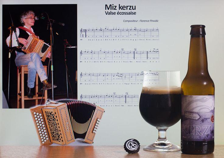 """Kerzu (brasserie An Alarc'h - Bretagne - France) -  Calendrier de l'après """"Une petite mousse""""  Bières artisanales françaises -  Miz Kerzu (Florence Pendivic) - Accordéon diatonique -  Kerzu = décembre"""