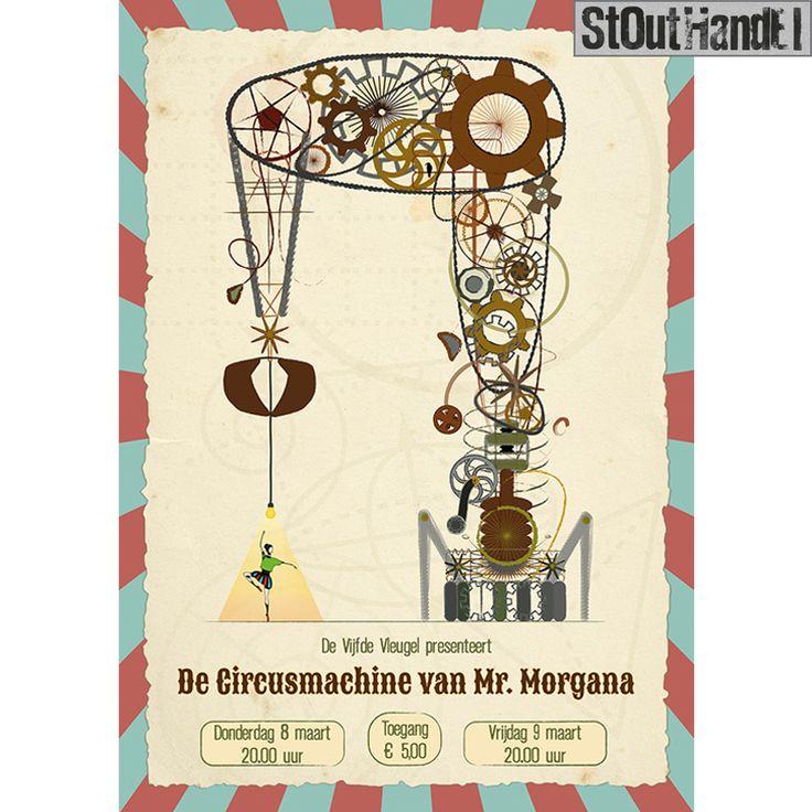 #stouthandel #poster #devijfdevleugel #affiche #steampunk #machine #circus #ballet #balletdancer #theatre