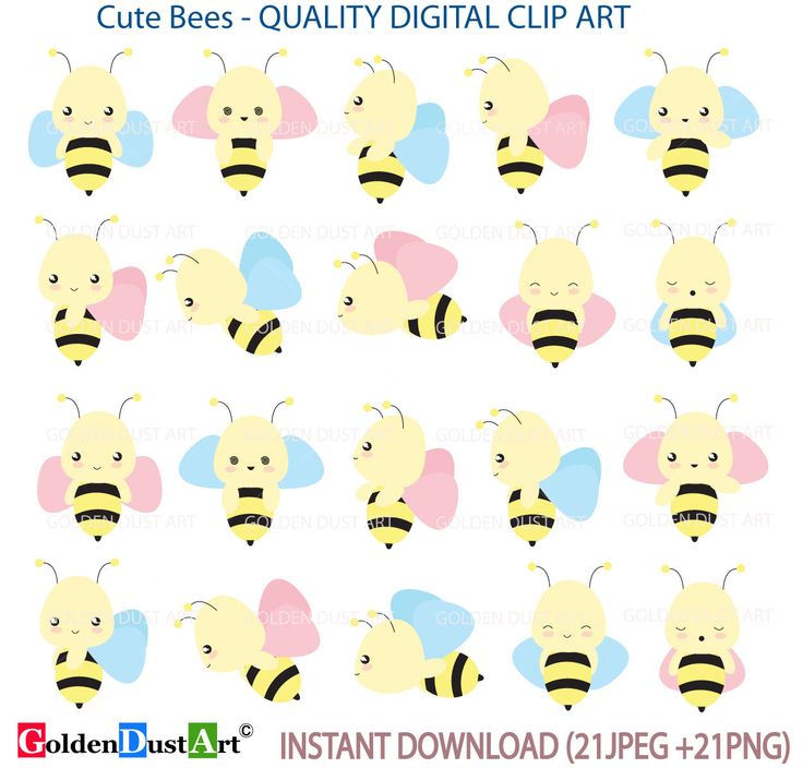 30% OFF Bees Clip art, Kawaii Bees, Cute Bees Clip Art Set, Kawaii Clip Art, Bee Clip Art, Personal and Small Commercial Use by GoldenDustArt on Etsy https://www.etsy.com/listing/269793198/30-off-bees-clip-art-kawaii-bees-cute