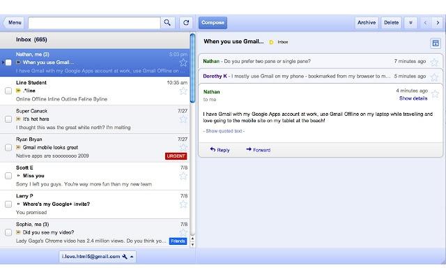 Chrome Web Store - Offline Google Mail