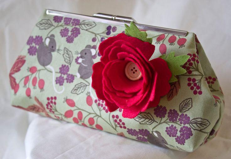 Clutch Bag - Purse - Hand Bag - Accessory Bag - Toiletry Bag - Handmade bag…