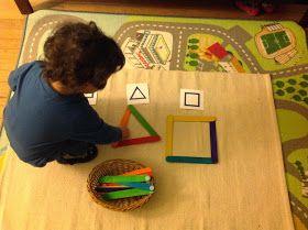 Irudi geometrikoak osatzen.