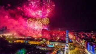 Image copyright Chris WattEdinburgh's Hogmanay organisers say the event will not be affected by Storm Dylan. Scotland is set to be battered by winds of up to 80mph on New Year's Eve as weather warnings have been issued. The storm will arrive from Northern Ireland at about midnight on Saturday and the wind warning is in place until 15:00 GMT on Sunday.