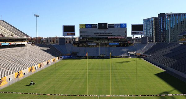 Could renovated Sun Devil Stadium be looking for naming-rights deal? - There are 13 NCAA Football Bowl Series programs that have made naming-rights deals for their stadiums. Only two are members of the Pac-12 Conference, and Arizona State isn't one of them. That could soon change. Sun Devil Stadium is in the midst of the second phase in a three-stage, $268-million... - http://azbigmedia.com/ab/renovated-sun-devil-stadium-namingrights-deal