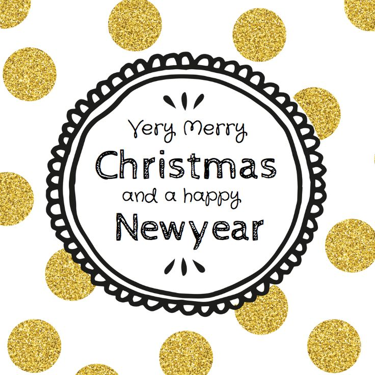 Vrolijke kerstkaart met gouden stippen, verkrijgbaar bij #kaartje2go voor €1,89