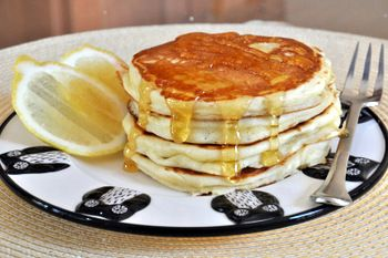 Fluffy Lemon Yogurt Pancakes. These have earned a place in my breakfast rotation! You'll most likely need to add a T. or two extra milk.