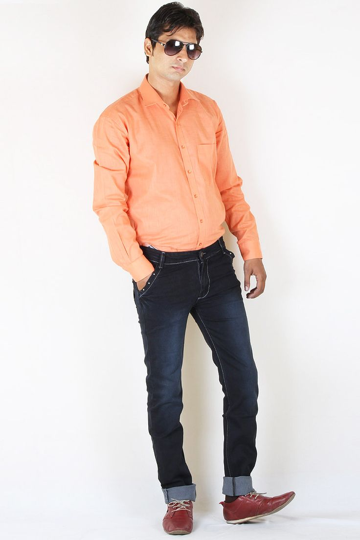 http://tinyurl.com/j4wksbr Buy JUST Navy Blue Stretch Denim Jeans For Men Online Lowest Prices only on GetAbhi.com