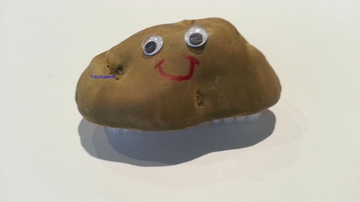 Nail Brush Potato Person