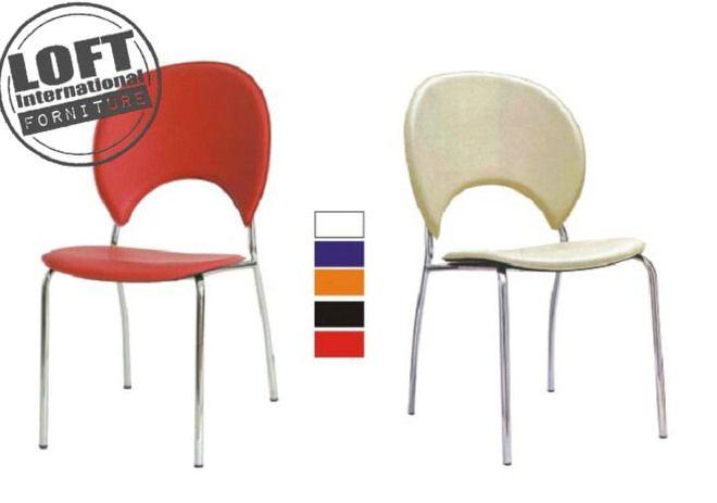 Sedie con spalliera mezzaluna - 2 Pz. Colore Nero