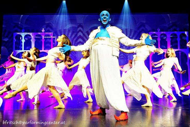 """Performing Academy´s production of """"Aladdin Jr."""" at the Wiener Stadthalle.  @da-semotan als guter Flaschengeist """"Dschinni"""". #musical #theatre #theater #disney #dance #sing #act #passion #fun #energy #costume #concentration #stage #power #bühne #lights #audience #artist #actor #instaart #instagood #instadance #photooftheday #photobyfritsch @stadthalle @performingacademy @performingcenteraustria"""