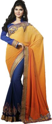 Aparnaa Self Design Embroidered Embellished Georgette Sari - Buy Blue, Yellow Aparnaa Self Design Embroidered Embellished Georgette Sari Online at Best Prices in India | Flipkart.com   Rs. 3,332 63% OFF Selling Price (Free delivery)
