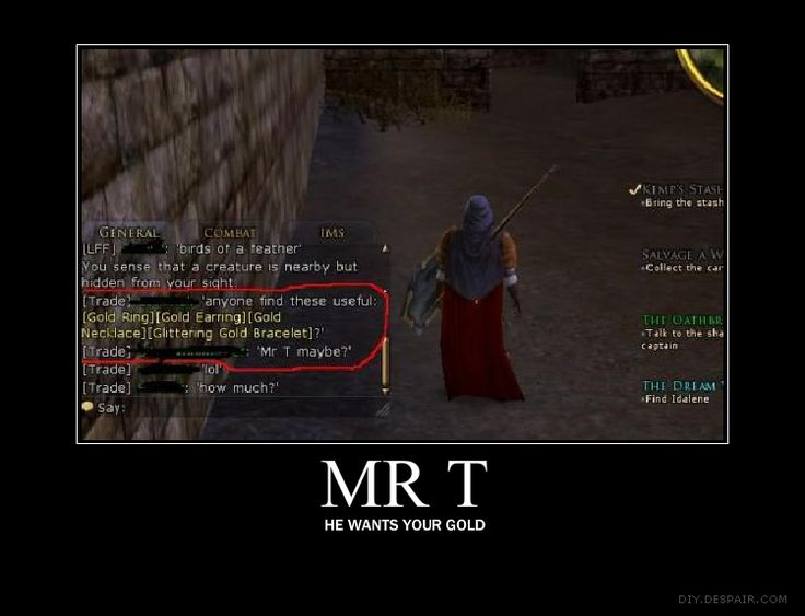 You just have to read the chat, it's hilarious. LOTRO ...