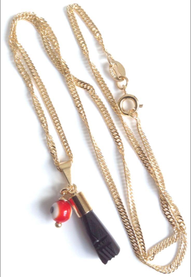 Mano de Azabache - Azabache necklace for adults - protection pendant - mal de ojo
