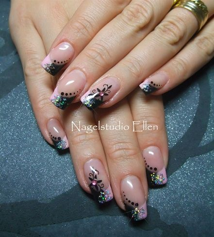 Pink & Black - Nail Art Gallery by NAILS Magazine