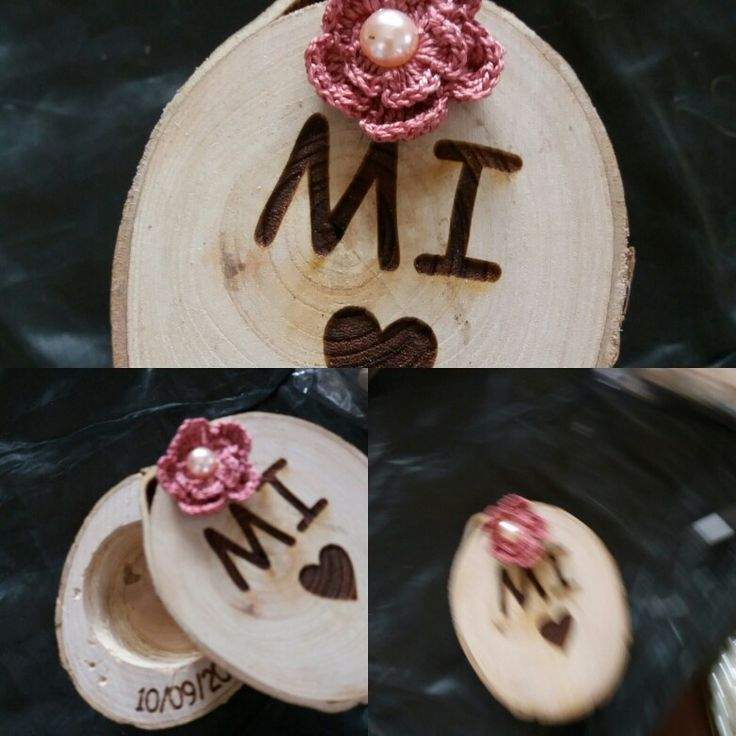 Wood box for ring