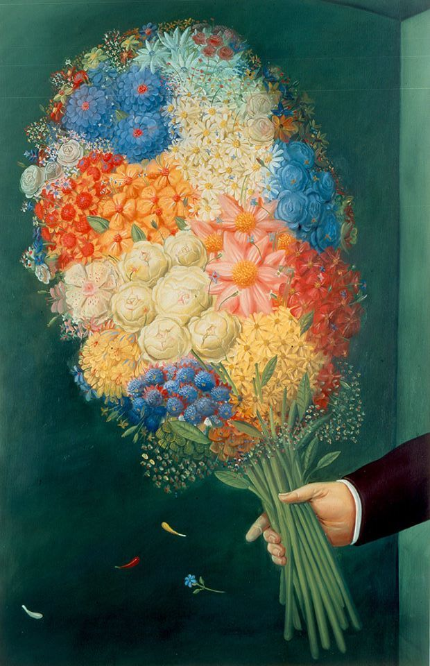 "huariqueje: ""Flores - Fernando Botero , 1988 Colombian, b.1932- Oil on canvas…"