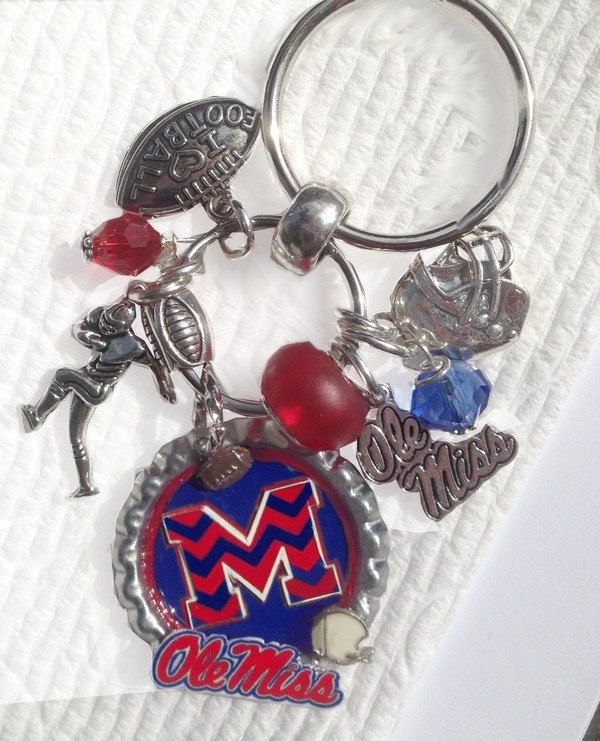 Ole Miss Football  (inspired) Keychain Pursecharm - pinned by pin4etsy.com