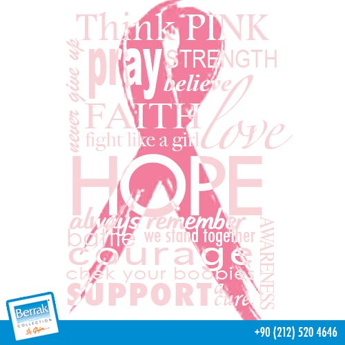 Bu ay meme kanseri bilinçlendirme ayı. Umutsuz olma kontrollü ol! Rutin meme muayeneni ihmal etme. #memekanseri #breastcancer #cancer #pink