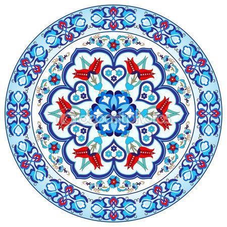 Antique ottoman turkish pattern vector design thirty seven