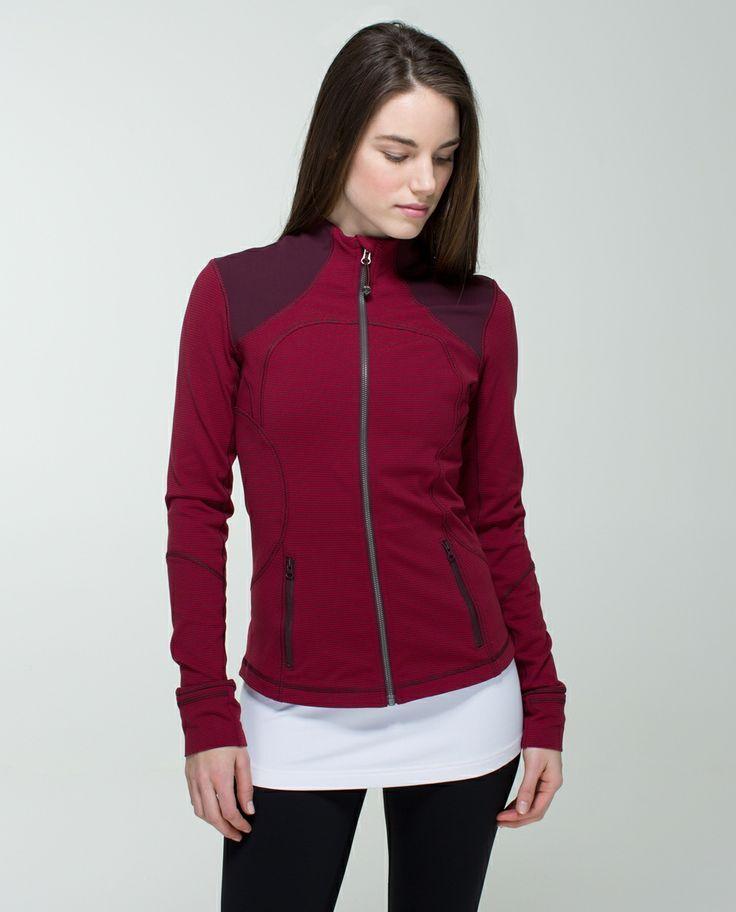 Lululemon forme jacket...gorgeous colour!