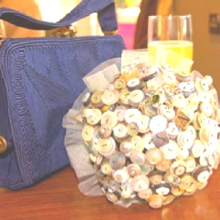 Button bouquet - after finding out how much one of these bad boys cost to buy I decided to make my own x x