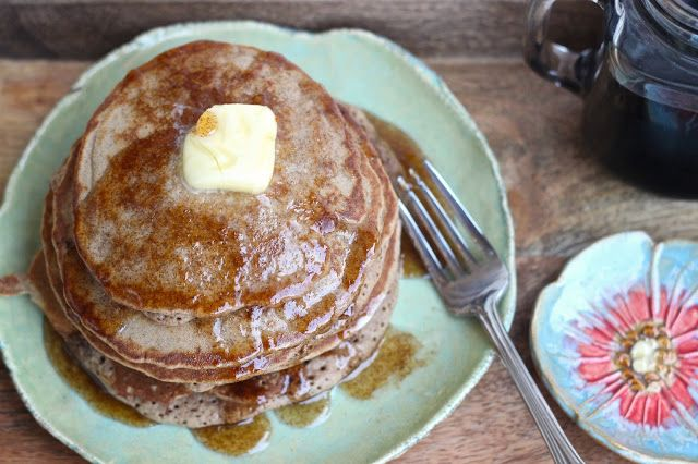 ... : Cinnamon and Honey Gluten Free Pancakes with a Honey Syrup Drizzle