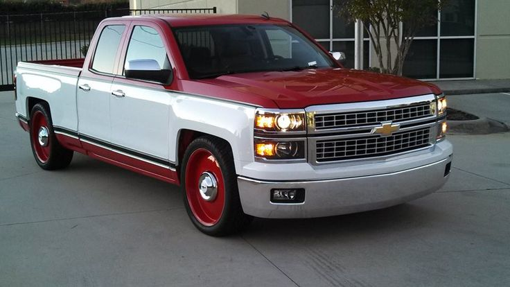 New Chevy #Silverado modified to look like a vintage Chevy Truck - by Mallet Cars, Ltd.
