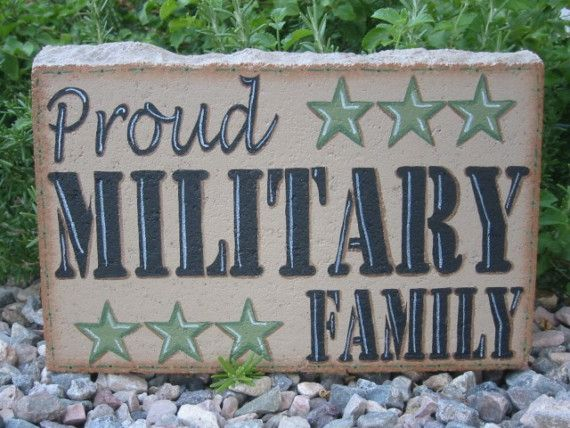 Garden Decor  Proud Military Family 12x8 by SunburstOutdoorDecor, $28.00