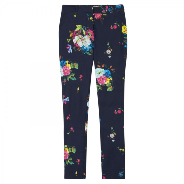 Melinda floral stretch twill trousers _NAOT_10