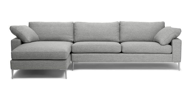 Nova Winter Gray Left Sectional Sofa - Sectionals - Article | Modern, Mid-Century and Scandinavian Furniture