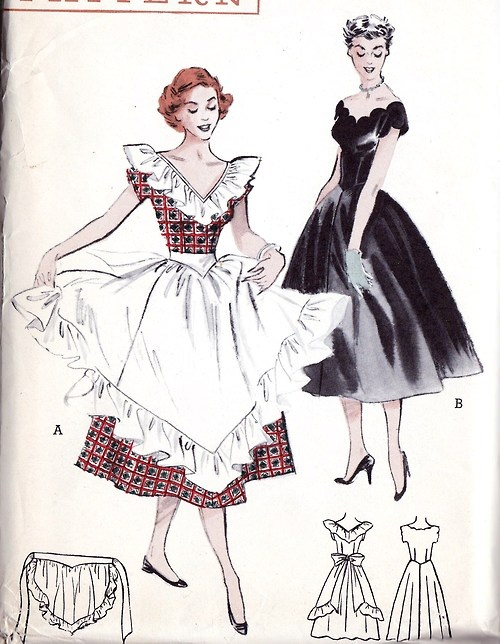 1950s  oh yes those aprons!