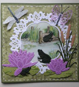 De kikkers hebben plezier in het voorjaar