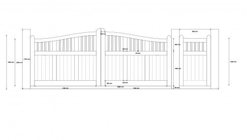 Automated Pathway Wooden Gate's CAD design