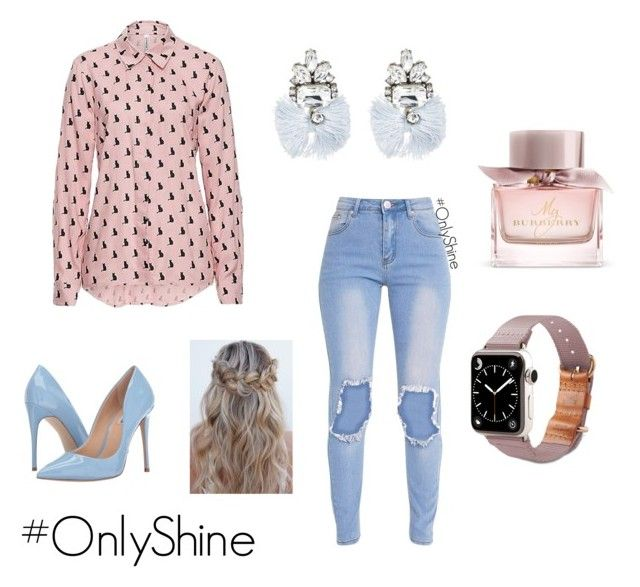 PinkDream by onlyshinerd on Polyvore featuring moda, Steve Madden, TOMS, BaubleBar and Burberry