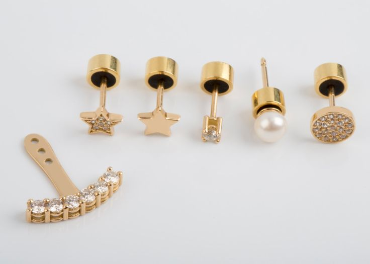 Natural Diamond Earrings, Yellow Gold / Rose / White, As preferred, available now for purchase. Solid Gold Studs, Climber Earrings, Gold Ear Jackets... all manufactured with high end goldsmith workshop techniques for you! Thank you for viewing and following!!!!!