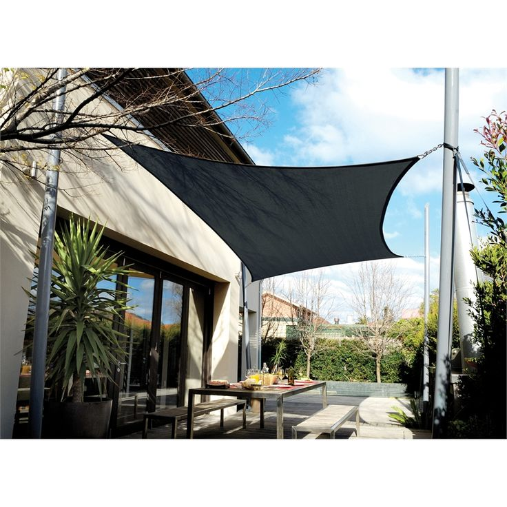 Coolaroo Shade Sail Rectangle 5 x 3m Charcoal $186